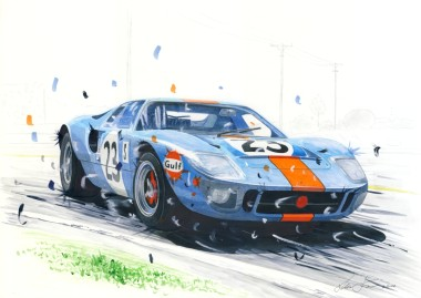 Ford GT40 sideways