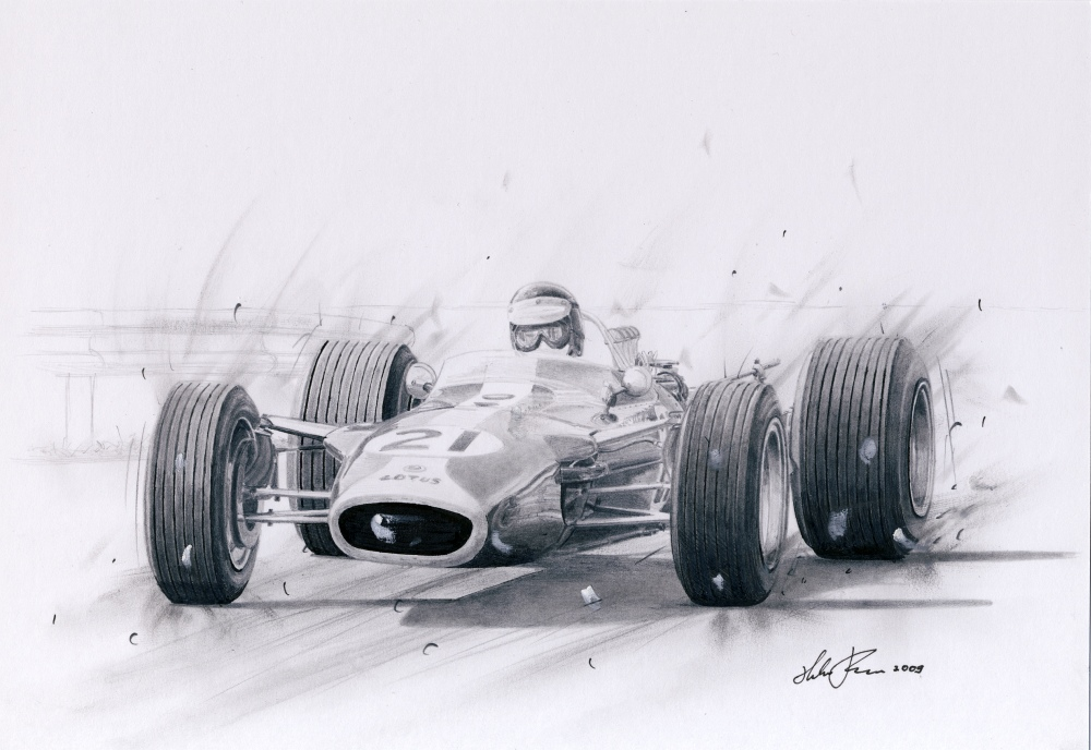 Jim Clark in Lotus 49