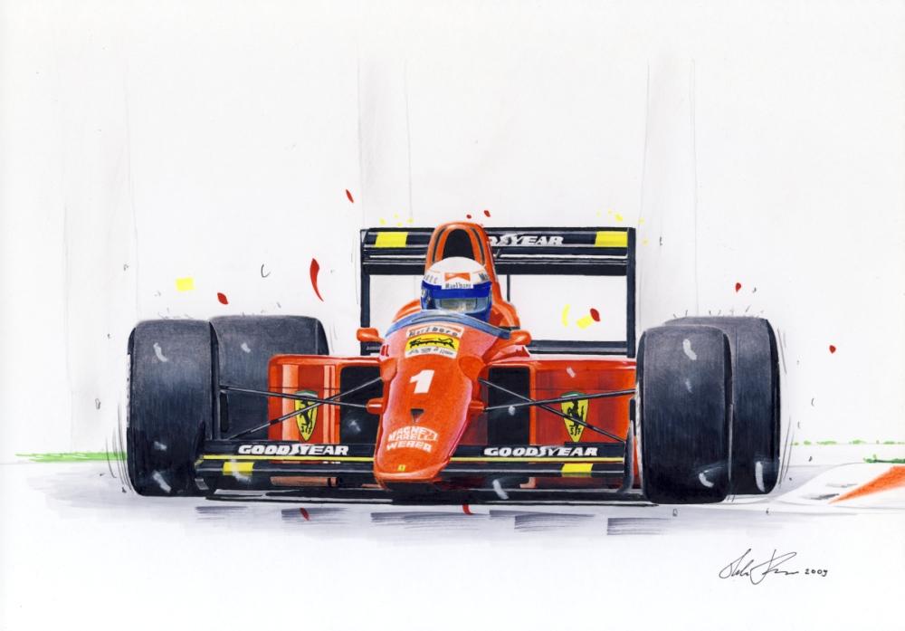 Alain Prost in Ferrari 641