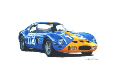 Ferrari 250 GTO Sweden colors